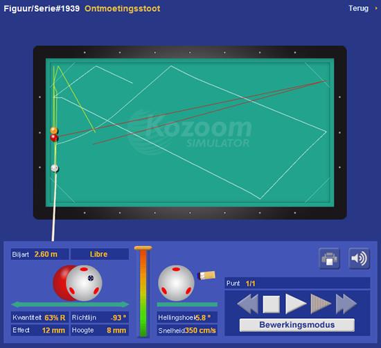 Biljartsimulator - kozoomstoot
