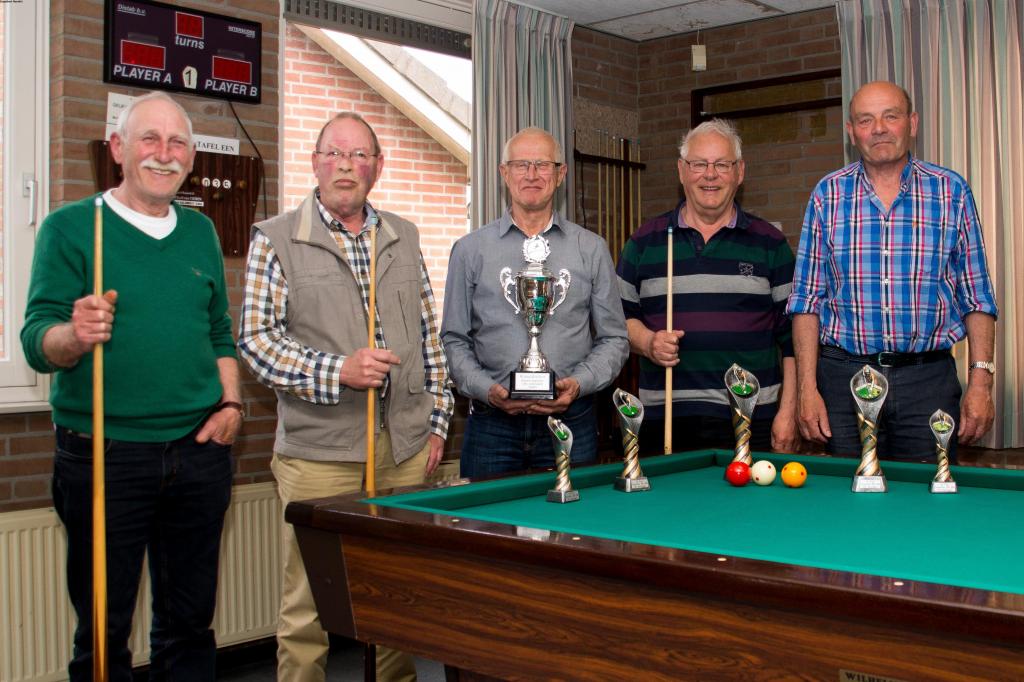 G.Linders, Th. Boerboom, G. Kersten, E. Hendrix en J. Thijssen. W. Dinnissen ontbreekt op de foto.