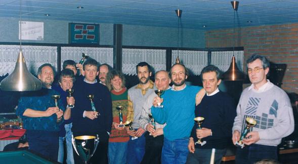 De clubkampioenen van seizoen 1990-1991 tijdens het Kampioen der Kampioenentoernooi in januari 1992.