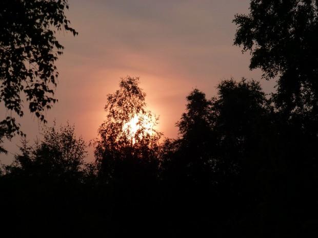 Zonsondergang door Ria Mensink uit Deventer (foto genomen op 13 juli 2013)