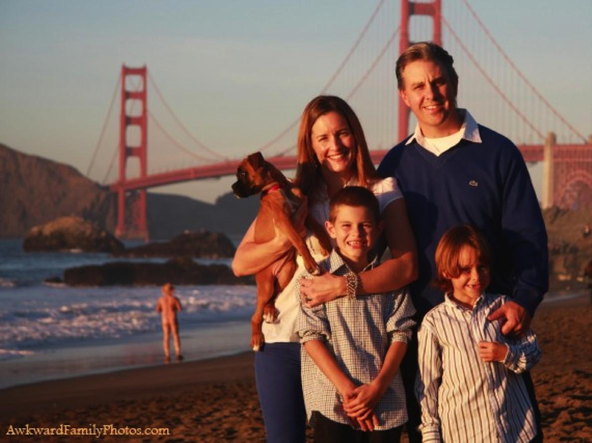 Let op de omgeving bron: awkwardfamilyphotos.com