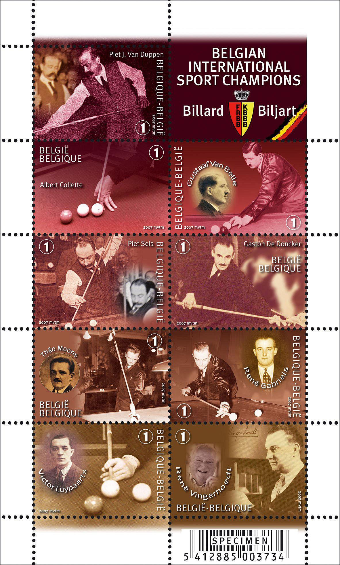 Belgische biljartpostzegels