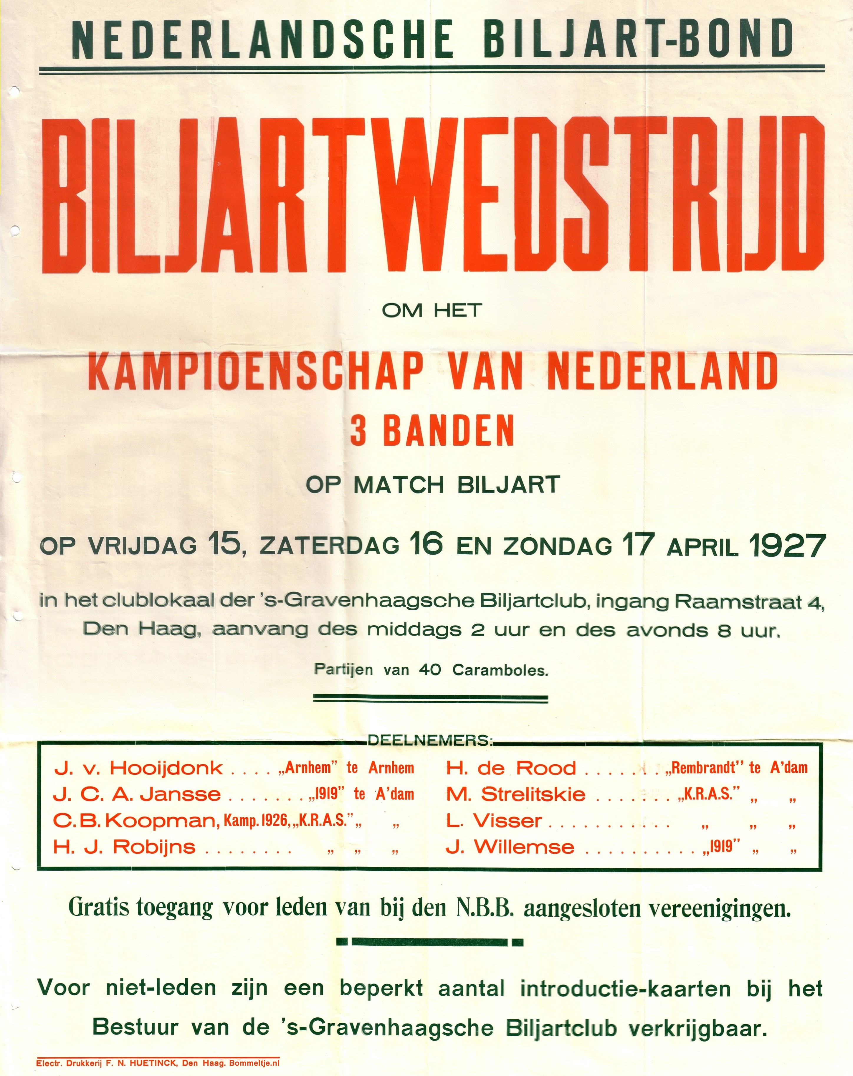 Biljartaffiche1927