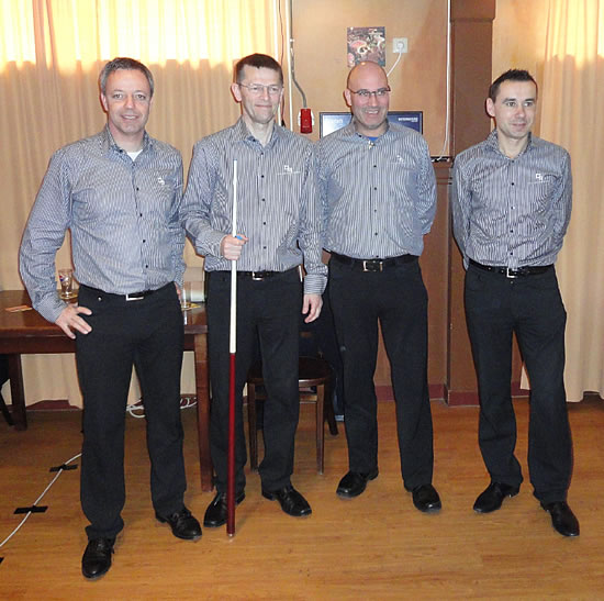 Vlnr: Dick Jaspers, Torbjörn Blomdahl, Martin Horn en Jean van Erp.