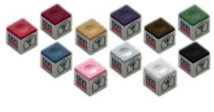 Biljartkrijt in vele kleuren