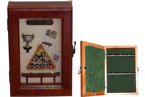 Een sleutelkast, vermomd als biljartdecoratie.